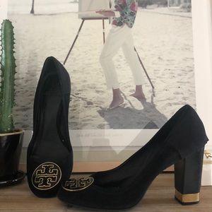 Tory Burch Suede Heels, Size 10